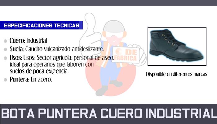 10 BOTA PUNTERA CUERO INDUSTRIAL