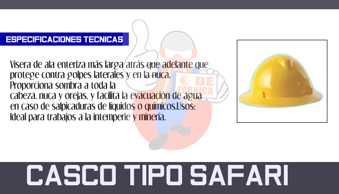 20 CASCO TIPO SAFARI