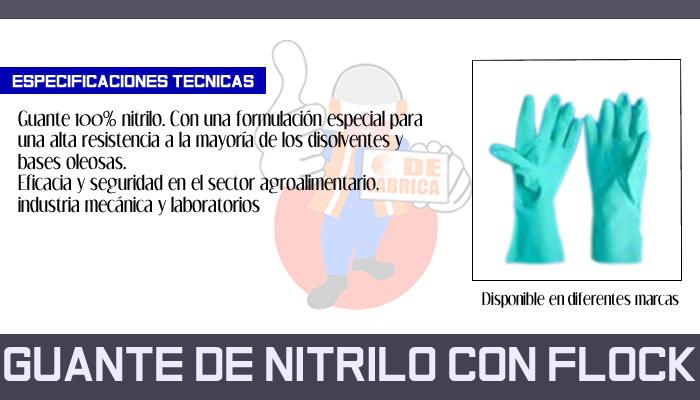 35 GUANTE DE NITRILO CON FLOCK