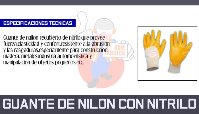 38 GUANTE DE NILON CON NITRILO