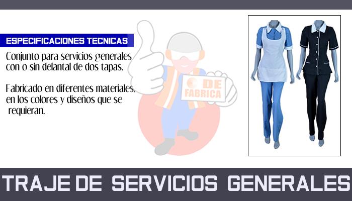 63 TRAJE DE  SERVICIOS  GENERALES