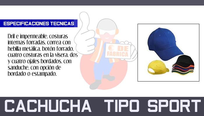 71 CACHUCHA   TIPO  SPORT