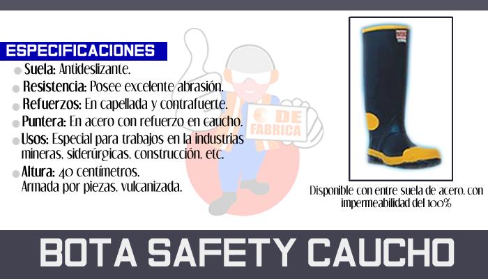 1 BOTA SAFETY CAUCHO