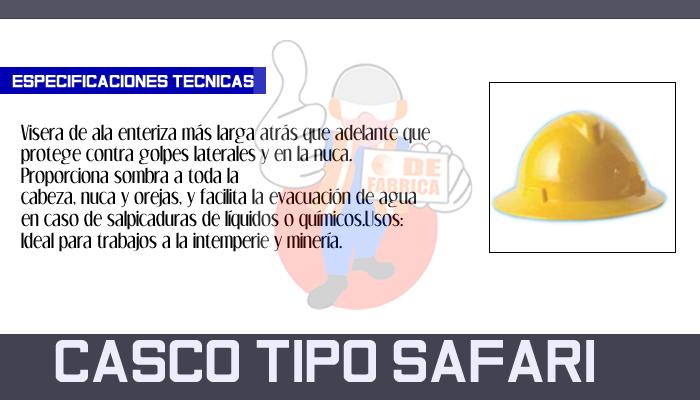 20 CASCO TIPO SAFARI