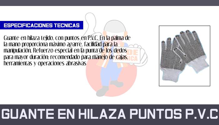 31 GUANTE EN HILAZA PUNTOS P.V