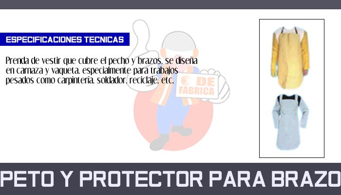 33 PETO Y PROTECTOR PARA BRAZO