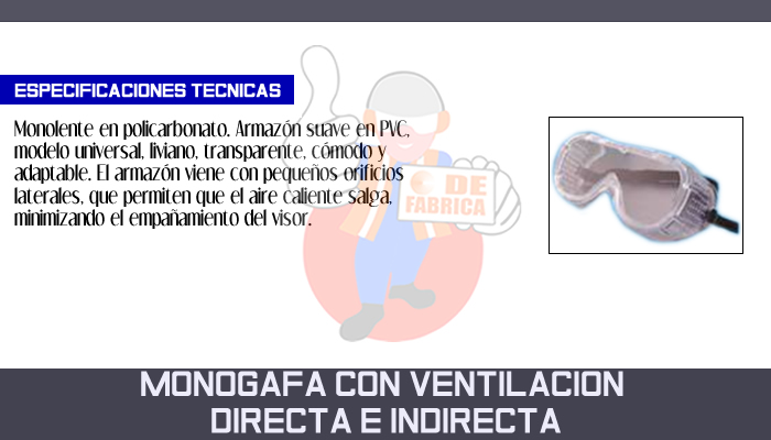 50 MONOGAFA CON VENTILACION DIRECTA E INDIRECTA