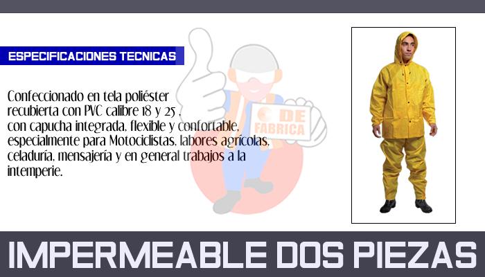 78 IMPERMEABLE DOS PIEZAS